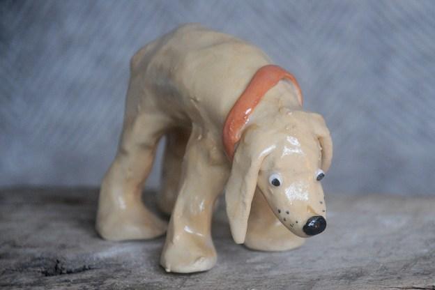 Standing Mustard Dog