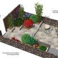 Angular evenings garden design small back garden design with water