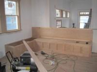 built in kitchen bench plans