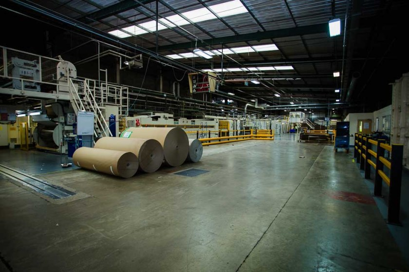 an image of a factory floor showing commercial photography