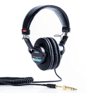 image of sony headphones for podcasting