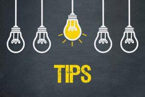 a row of lightbulbs for tips