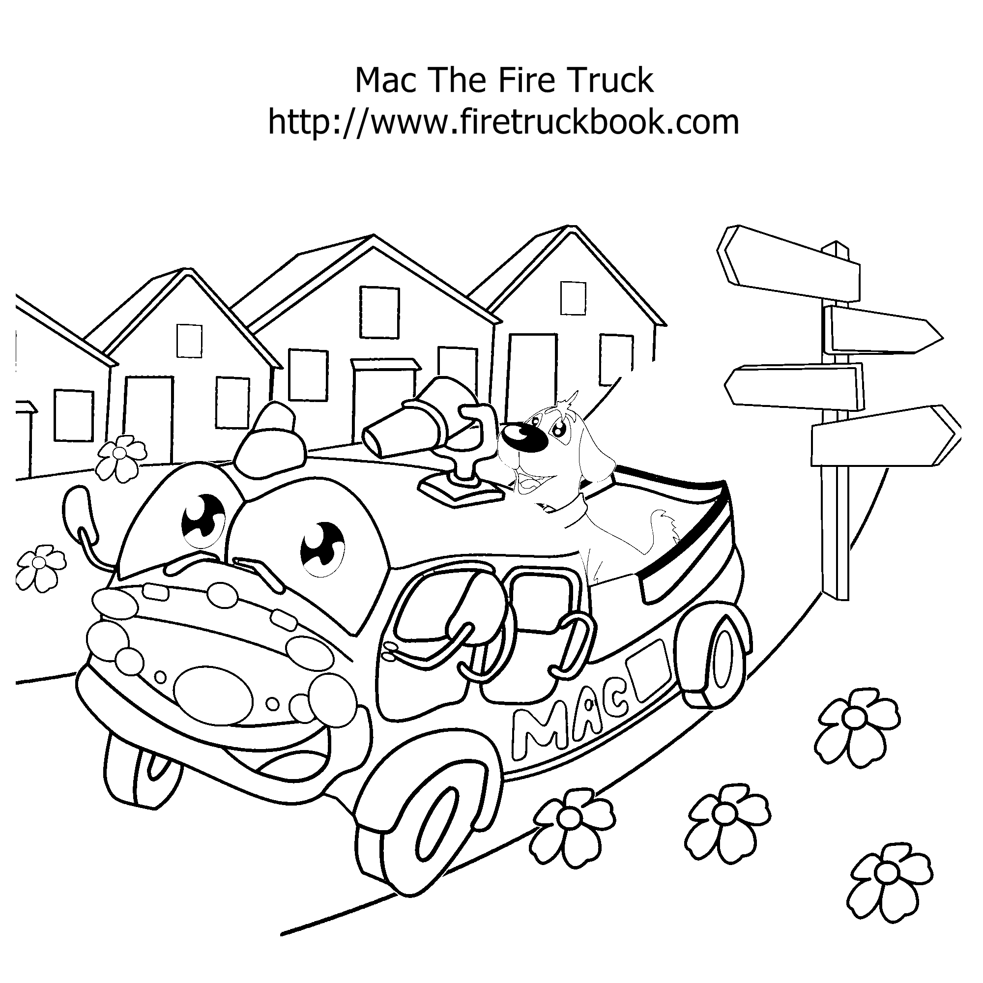 Fire Truck Coloring Pages Fire Truck Book
