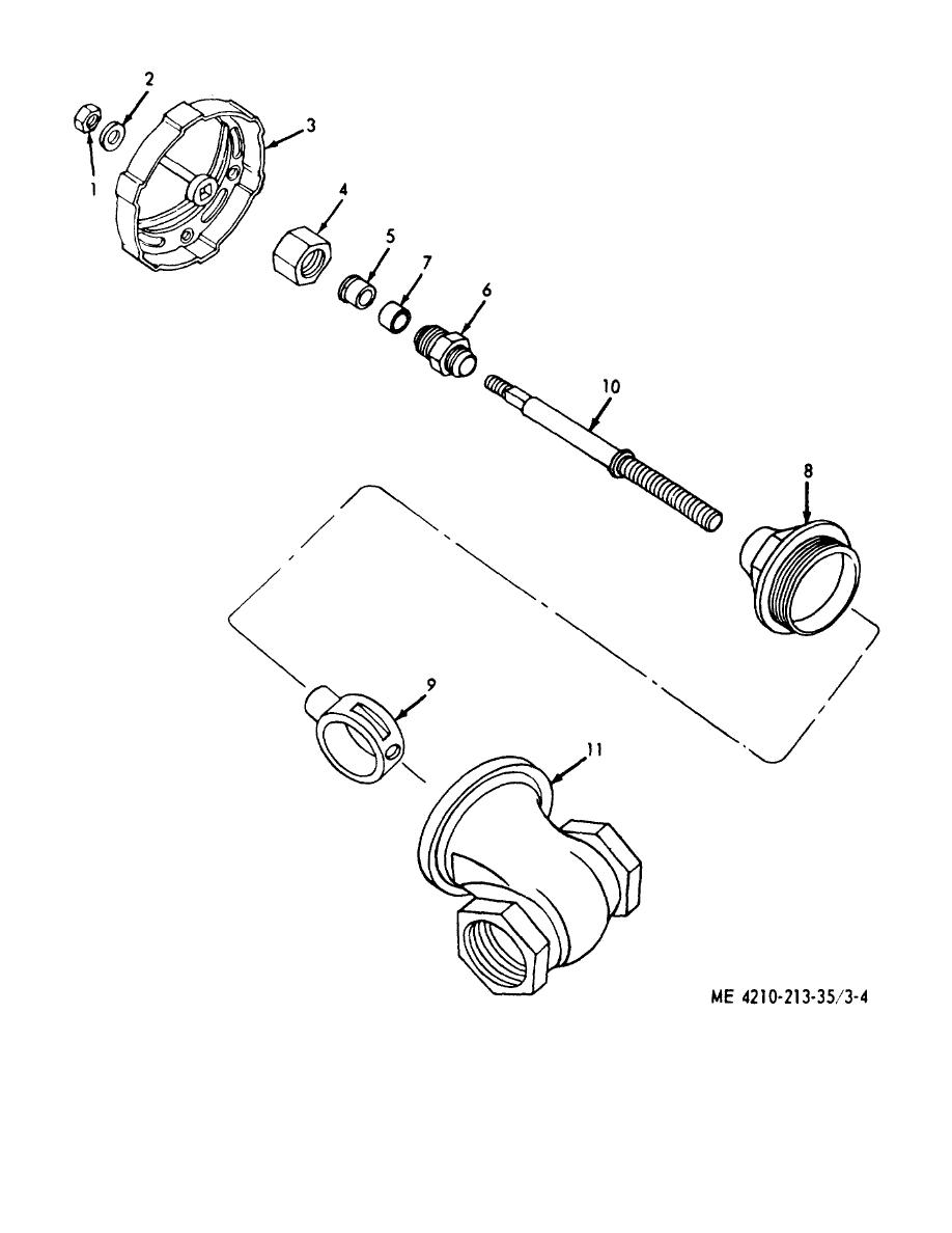 Figure 3-4. Water- tank drain valve, exploded view.