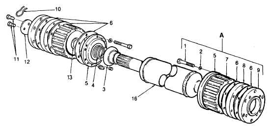 PTO to Reducer Gear Drive Shaft.