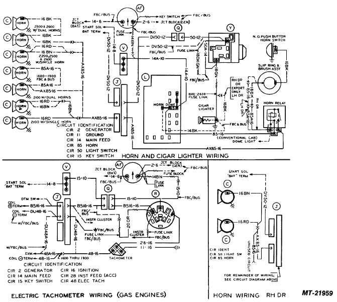 electric tachometer wiring (gas engines)