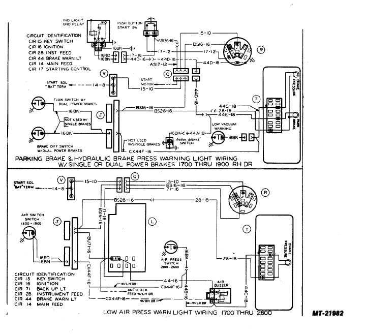 low air press warn light wiring 1700 thru 2600