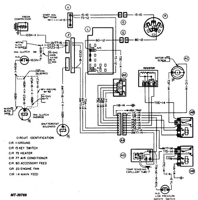 Fig. 17 Heater and Air Conditioner Wiring Diagram