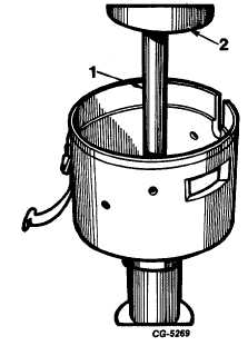 Fig. 28 Pressing Out Lower Bushing Using Knock-Out Bar