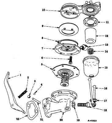 Fig. 6 Exploded View of Side-Mounted Bowl Type Fuel Pump