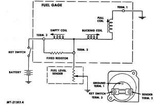 Fig 17 Fuel Gauge Circuit Diagram
