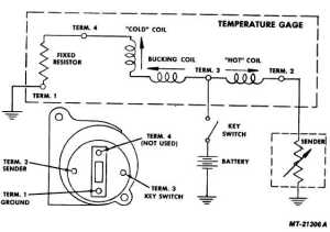 Fig 20 Water Temperature Gauge Circuit Diagram