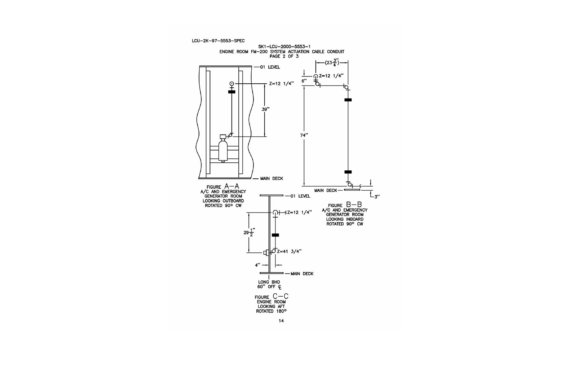 Engine Room FM-200 System Actuation Cable Conduit Page 2 of 3