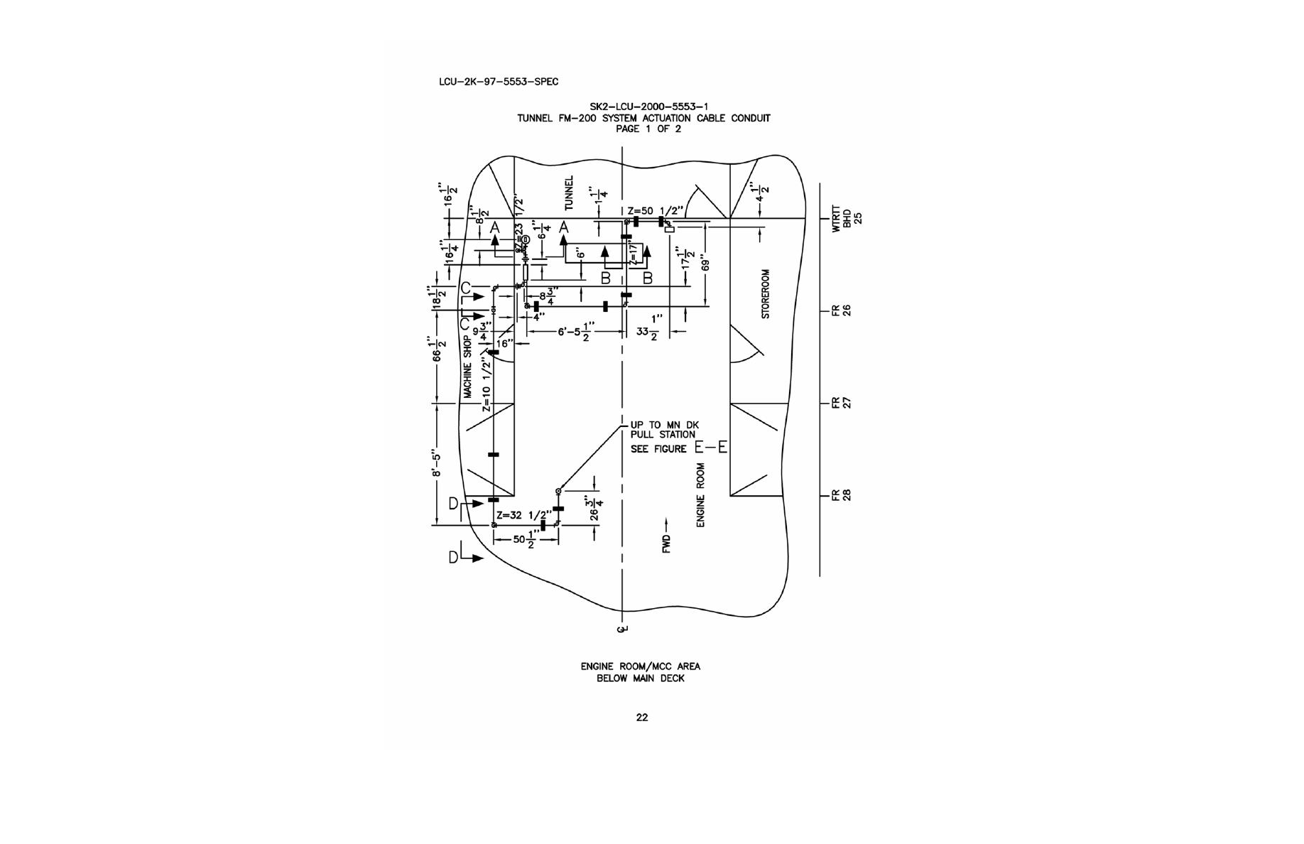 Tunnel FM-200 System Actuation Cable Conduit Page 1 of 2