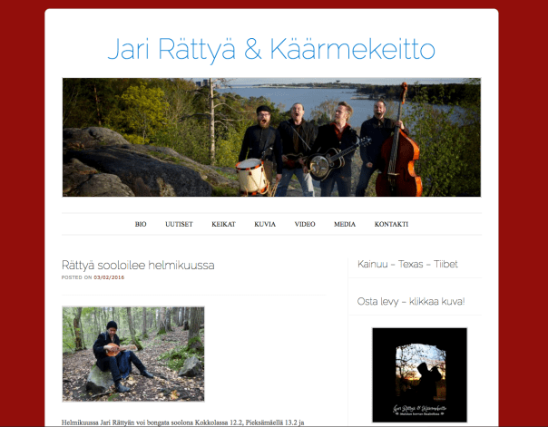 Jari Rättyä & Käärmekeitto - official band page