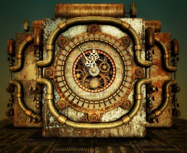 Steampunk Clock 4