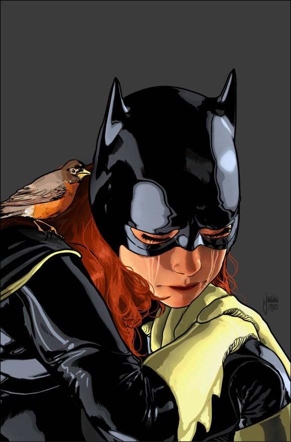 Batgirl # 18 by Mikel Janin