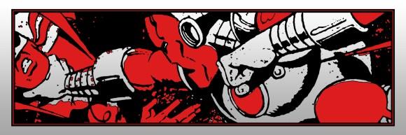 Seeing red - iron man vs iron fist - 36xd12 on embossed foil metallic BluntGraffix