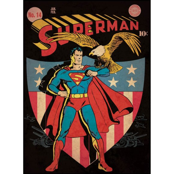 superman-bedroom-decor-vintage-issue-14-comic-cover-giant-wall-decal-1