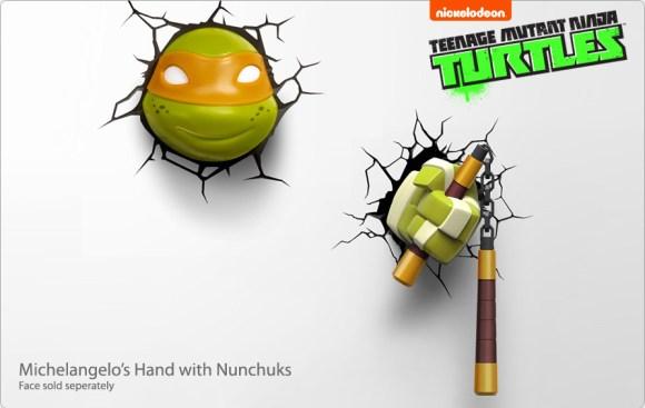 Michelangelo's hand with Nunchuks