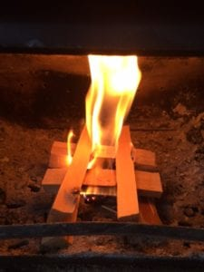 firelighters on fire