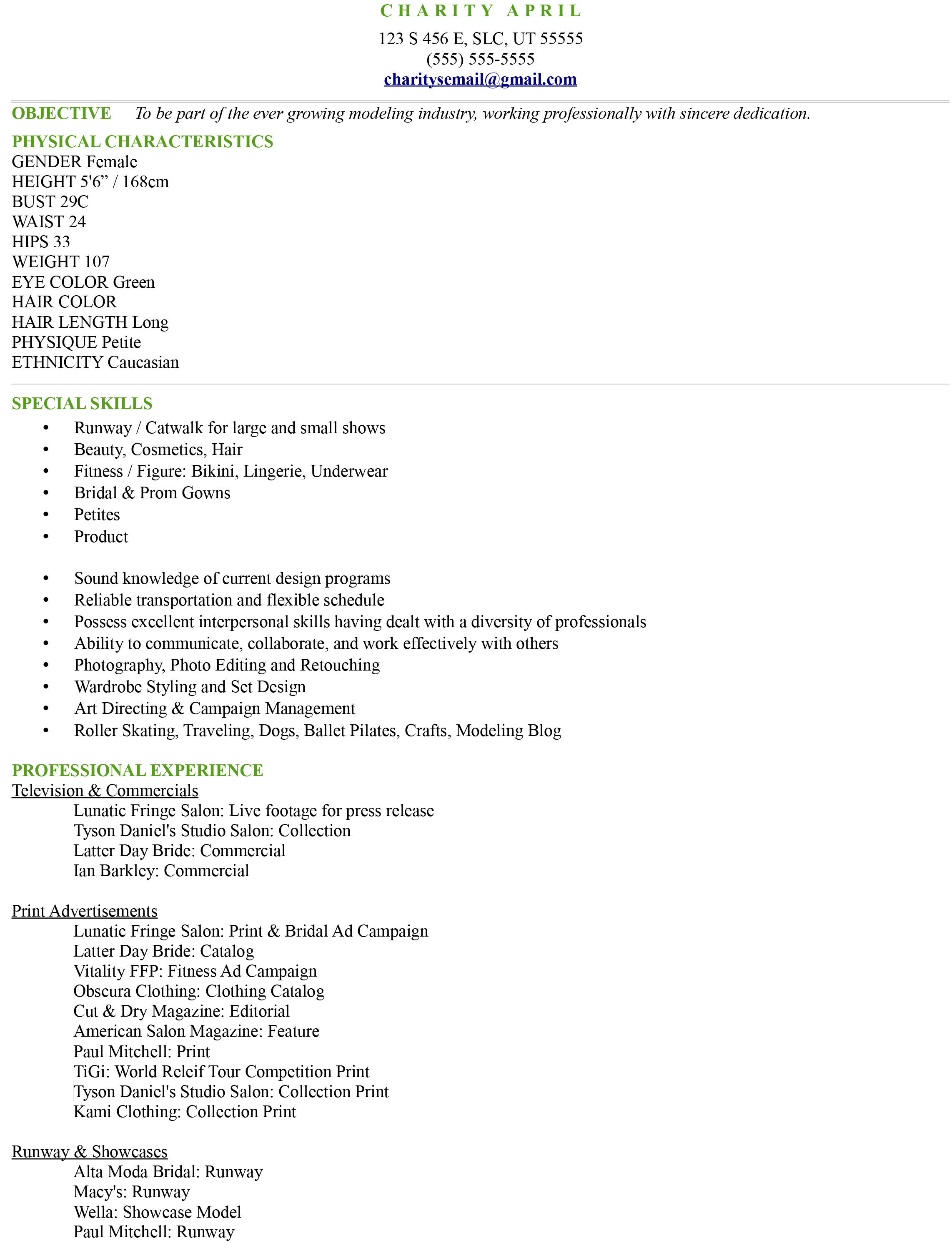 Resume Format For Makeup Artist Uncategorized Fire Your Agent