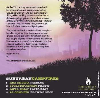 Suburban Campfires back cover