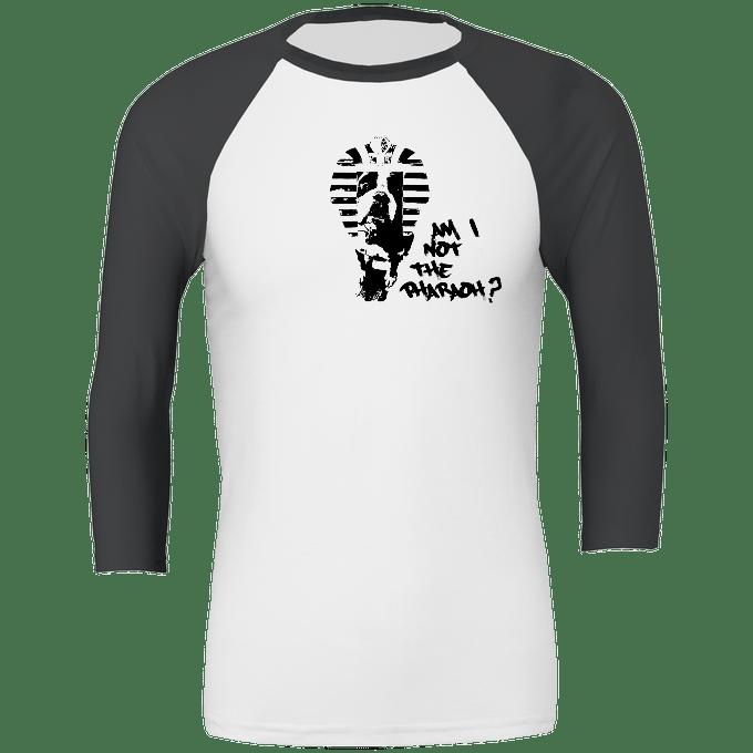 Pharaoh long sleeve T white with dark grey sleeves