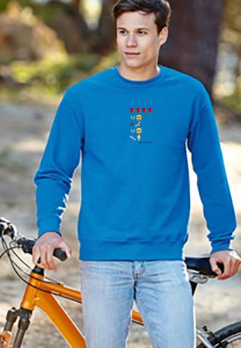 Emoji sweatshirt product-shot-guy-blue