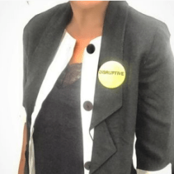 Disruptive badge on model