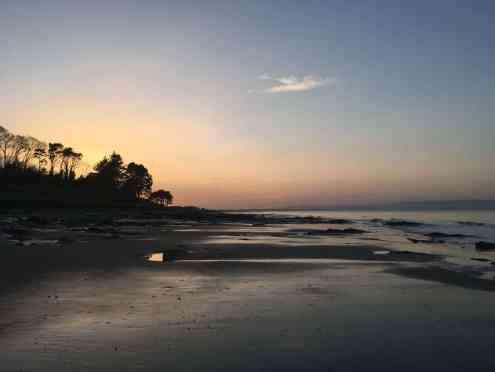 Nairn beach at sunset February 2018
