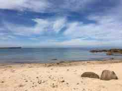 Relaxing on the soft sandy beach at Hopeman