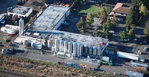 Lagunitas Brewery in Petaluma, CA. - Courtesy of Herb Lingl Aerial Archives.