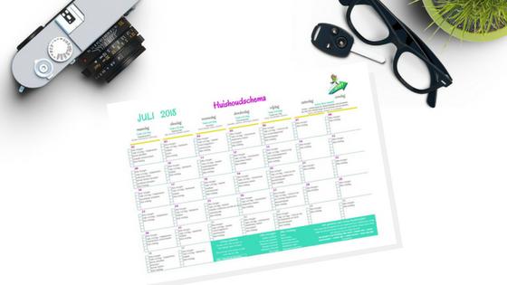 Huishoudschema & Huishoudkit juli 2018   printable