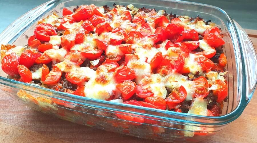 Kapsalon gezond met mozzarella   recept