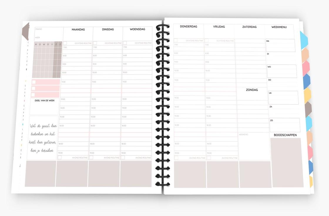 Huishoudplanner binnenkant - januari 2020