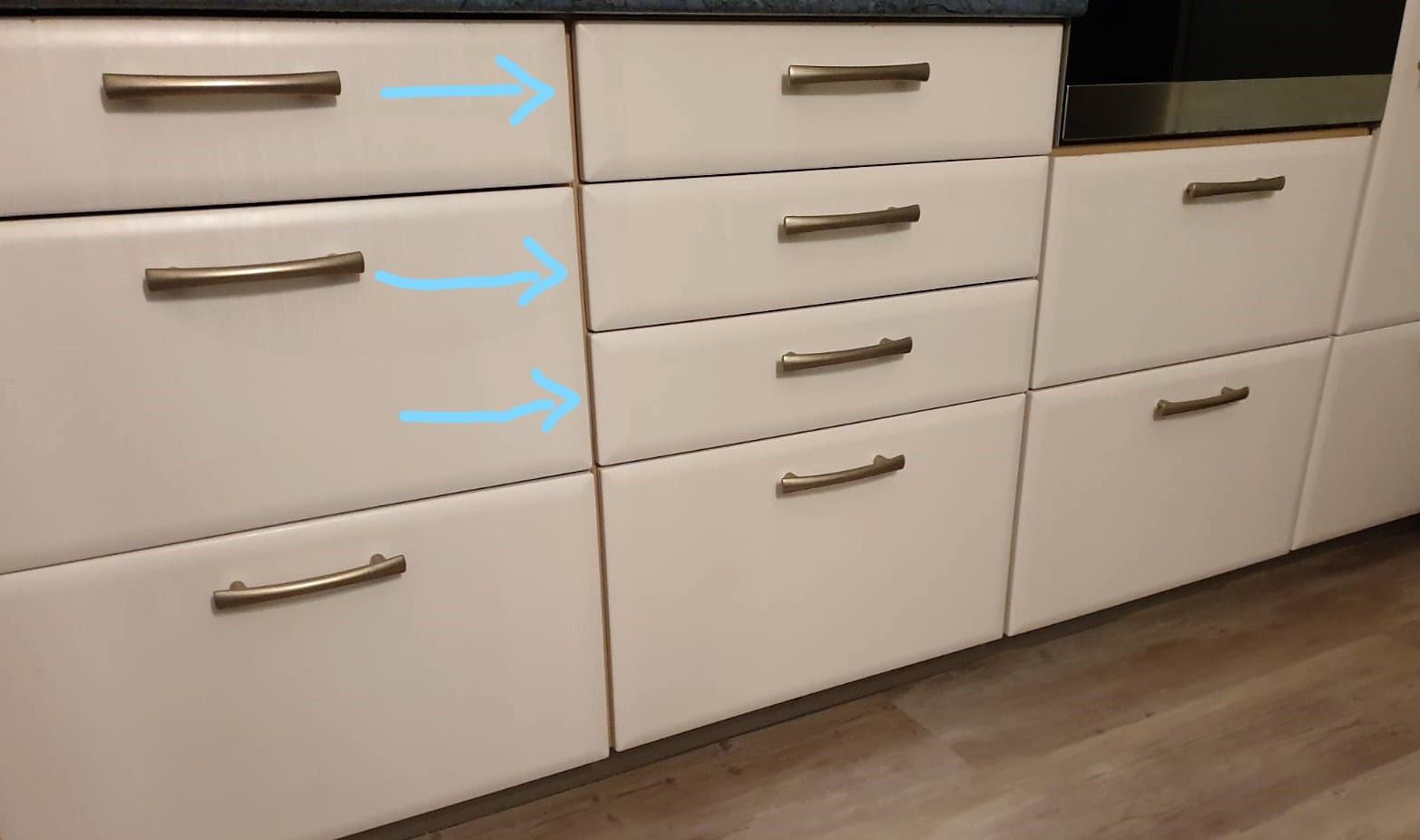 Keuken met lades - papieren chaos op orde