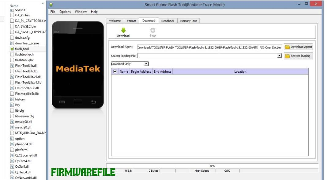flash stock firmware on MediaTek (MTK) smartphone