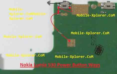 Nokia Lumia 530 Power Button