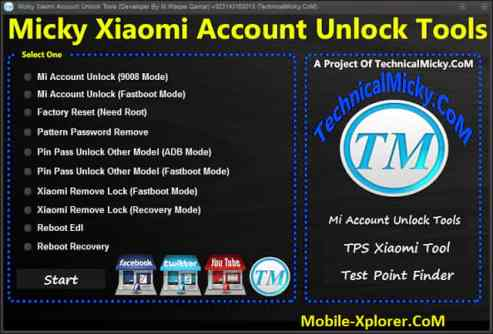 Micky Xiaomi Account Unlock Tool