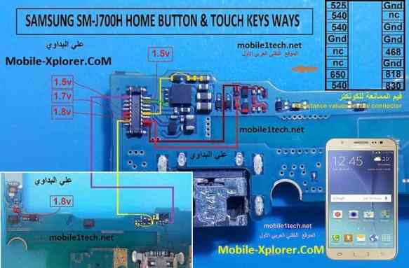 Samsung J7 J700H Home And Touch Button