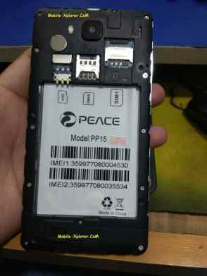 Peace PP15 Firmware Flash File Stock Rom 100% Tested