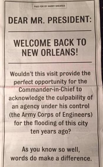 Shearer full page ad in the Advocate