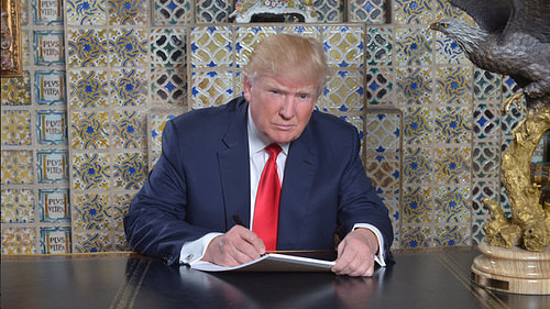 Trump: A Man and his Sharpie.