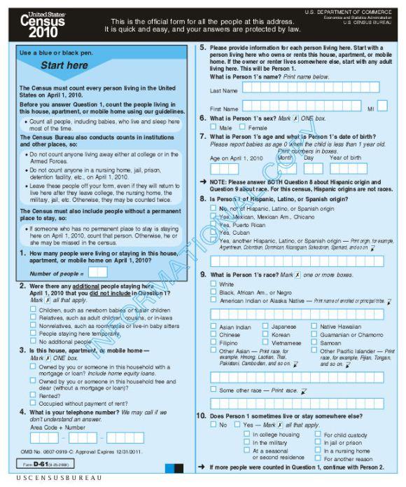 2020 Census Form