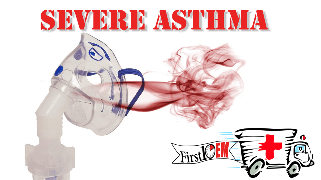 Management of life threatening asthma in the emergency department