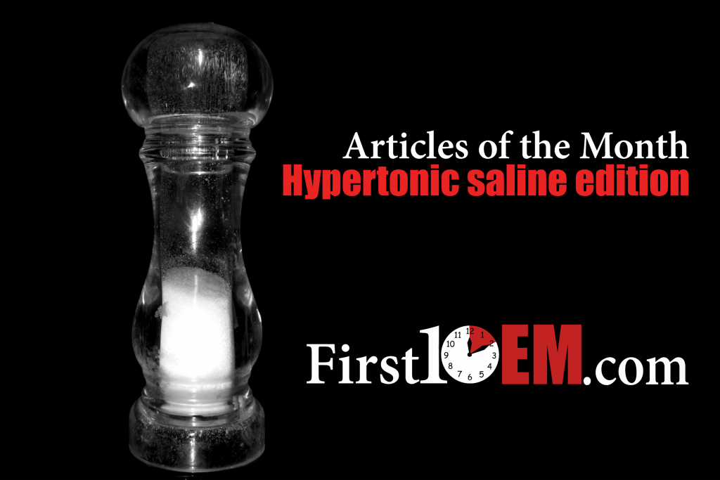 Hypertonic saline for elevated ICP