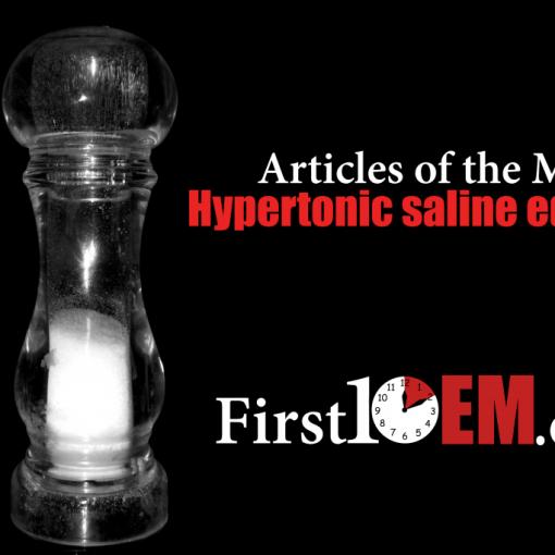Hypertonic saline for elevated ICP