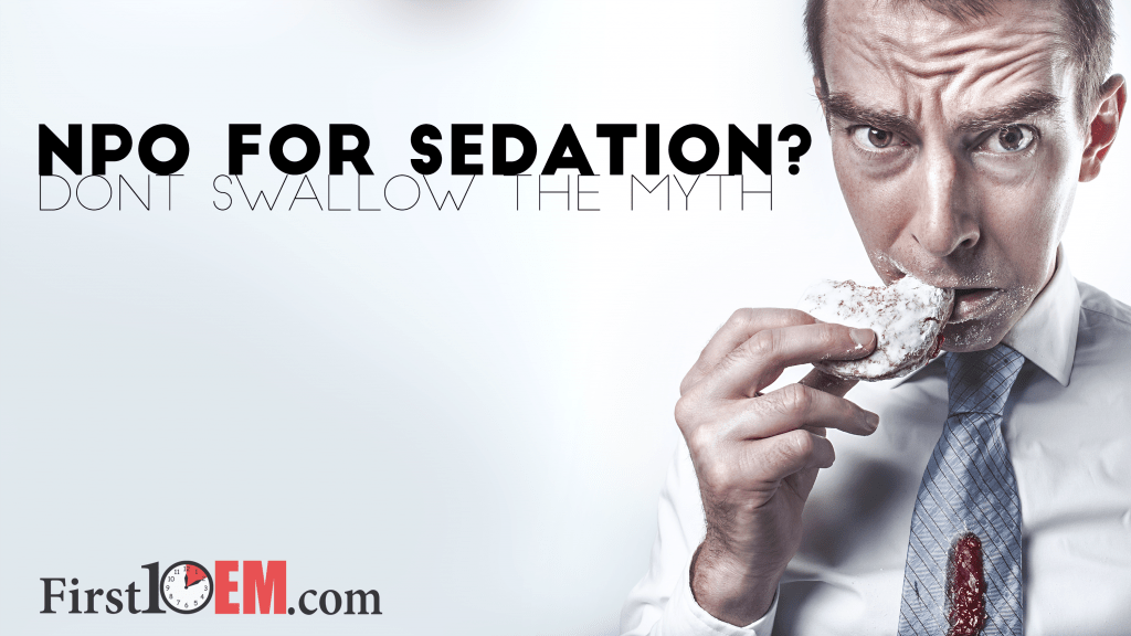 NPO for sedation title image