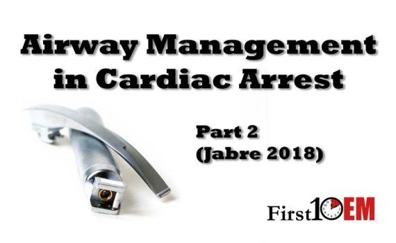 Airway management in cardiac arrest Jabre 2018